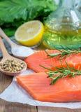 Fresh raw salmon fillet Stock Photo