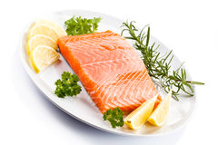 Fresh raw salmon fillet Stock Images