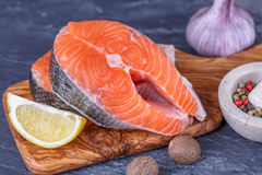 Fresh raw  salmon Royalty Free Stock Photography