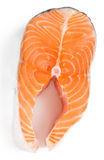 Fresh raw salmon. Isolated on white background Stock Photos