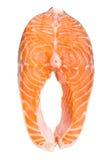 Fresh raw salmon. Isolated on white background Royalty Free Stock Photography