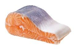 Fresh raw salmon. Isolated on white background Stock Photography