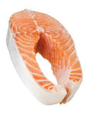 Fresh raw salmon. Isolated on white background Royalty Free Stock Photo