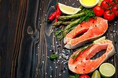 Fresh Raw Salmon Red Fish Steak Royalty Free Stock Image
