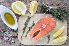 Fresh raw salmon steak Royalty Free Stock Photo