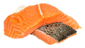 Fresh Raw Salmon Steaks Stock Image