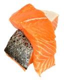 Fresh Raw Salmon Steaks Stock Image