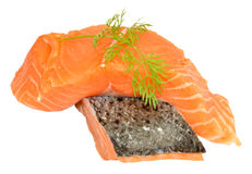 Fresh Raw Salmon Steaks Royalty Free Stock Photos