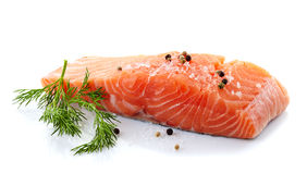 Fresh raw salmon Stock Image