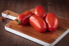 Fresh raw San Marzano tomatoes. Delicious fresh raw San Marzano tomatoes for an healthy nutrition Stock Photography