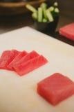 Fresh raw sashimi, japanese couisine. Shallow dof Royalty Free Stock Photo