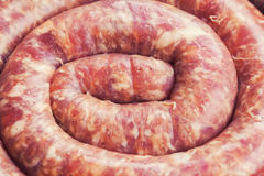 Fresh raw sausage Stock Photography