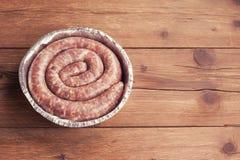 Fresh raw sausage Stock Image