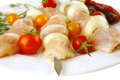 Fresh raw shish kebab Royalty Free Stock Photography