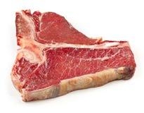 Fresh raw T bone steak. Isolated on white background Royalty Free Stock Image