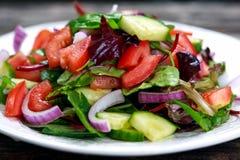 Fresh raw Vegetable mixed salad. close up Royalty Free Stock Photo
