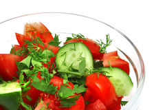 Fresh raw vegetable salad Royalty Free Stock Image