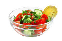 Fresh raw vegetable salad in bowl Royalty Free Stock Photos