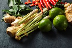 Fresh raw vegetables background. Healthy food ingredient. Thai vegetable background with Royalty Free Stock Images