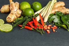 Fresh raw vegetables background. Healthy food ingredient. Thai vegetable background with Royalty Free Stock Image