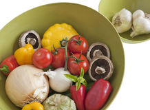 Fresh raw vegetables in a bowl Stock Photos