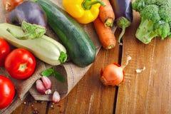 Fresh raw vegetables harvest Royalty Free Stock Photos