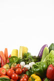 Fresh raw vegetables for healthy  isolated on white background.clean eating dieting and healthy organic food concept. Stock Photos
