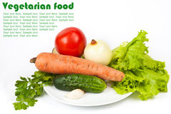 Fresh raw vegetables in plate Stock Photography