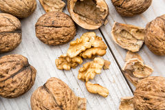 Fresh Raw Walnuts Royalty Free Stock Photos