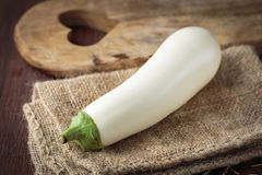 Fresh raw white eggplants. For an healthy nutrition Stock Images