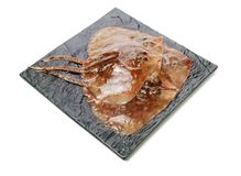 Fresh ray fish. Isolated on white background stock image