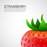 Fresh realistic strawberry background. Stock Image