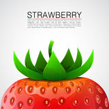 Fresh realistic strawberry background. Stock Photography