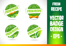 Fresh Recipe Badge Vector Royalty Free Stock Images