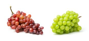 Free Fresh Red And Green Grapes Isolated On White Background. Clipping Path Include In This Image Stock Photos - 178904273