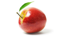 Fresh red apple Stock Images