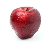 Fresh red apple. On white background Stock Photos
