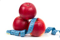 Fresh red apple diet Royalty Free Stock Photos