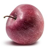 Fresh red apple isolated with clipping path Royalty Free Stock Images