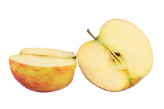 Fresh red apple with slice Stock Image