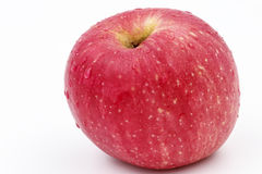 Fresh red apple. The red apple on white background Stock Images