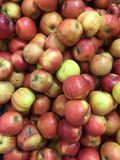 Fresh red apples Stock Photos