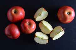 Fresh, red apples over dark background Royalty Free Stock Image