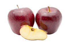 Fresh red apples on white background Royalty Free Stock Photos