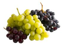 Fresh red, black and green grapes Royalty Free Stock Image