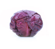 Fresh red cabbage vegetable. On white background Royalty Free Stock Photos