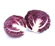 Fresh red cabbage vegetable. On white background Stock Images