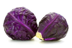 Fresh red cabbage vegetable Royalty Free Stock Images