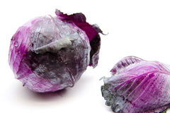 Fresh red cabbage. On white background Stock Photo