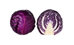 Fresh red cabbage on white. Background Stock Images